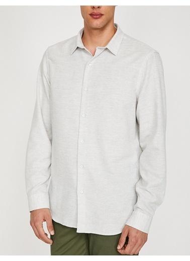 Koton Uzun Kollu Gömlek Gri